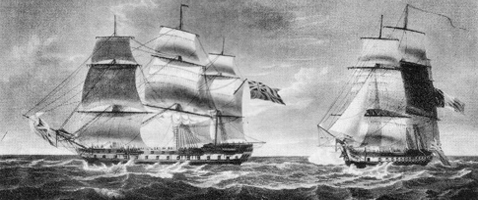 Old Ship History Painting